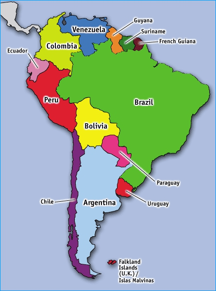 Discovering South American Countries